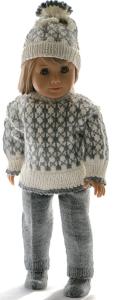 dollknittingpatterns 0217d sune -  pull, pantalon, bonnet, chaussettes, chaussures et sac à dos-(francais)