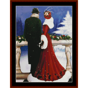A Christmas Proposal - Christmas cross stitch pattern by Kathleen George at Cross Stitch Collectibles | Crafting | Cross-Stitch | Other