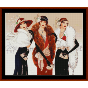a fashionable christmas - christmas cross stitch pattern by kathleen george at cross stitch collectibles