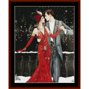 a yuletide dance - christmas cross stitch pattern by kathleen george at cross stitch collectibles