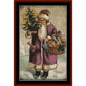 victorian santa i - christmas cross stitch pattern by kathleen george at cross stitch collectibles