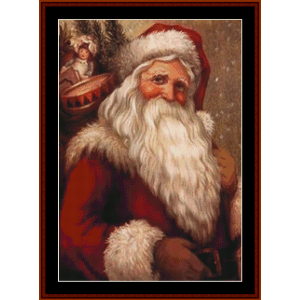 victorian santa iii - christmas cross stitch pattern by kathleen george at cross stitch collectibles