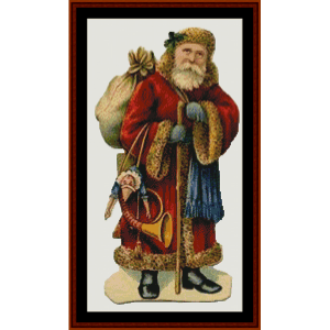 victorian santa iv - christmas cross stitch pattern by kathleen george at cross stitch collectibles
