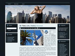 City Music | Software | Design Templates