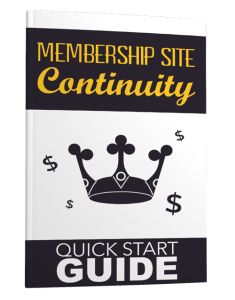 membership site continuity - quick start guide