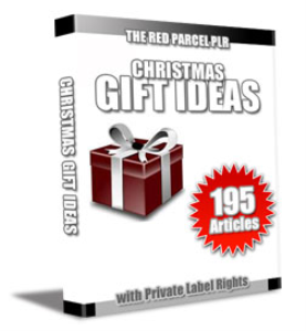195 christmas gift ideas plr articles