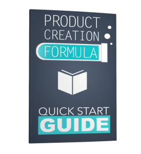 product creation formula - quick start guide
