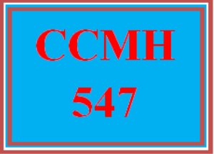 CCMH 547 Wk 5 Team - Depressive, Bipolar, and Anxiety Disorders and Psychometrics Worksheet | eBooks | Education