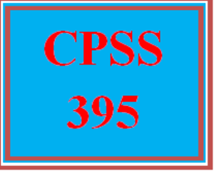 CPSS 395 All Discussions | eBooks | Education