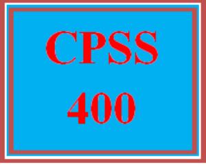 CPSS 400 Wk 4 - Treatment Plan and Facilitation Skills Report | eBooks | Education