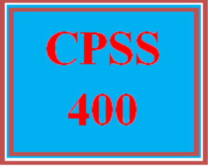 CPSS 400 All Discussions | eBooks | Education