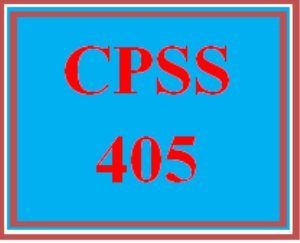 CPSS 405 Entire Course | eBooks | Education