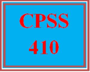 CPSS 410 Wk 4 Team - Treatment Methods Presentation | eBooks | Education