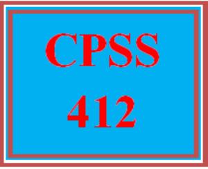 cpss 412 wk 3 - schizophrenia spectrum disorders