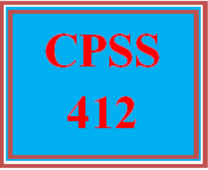 CPSS 412 All Discussions | eBooks | Education