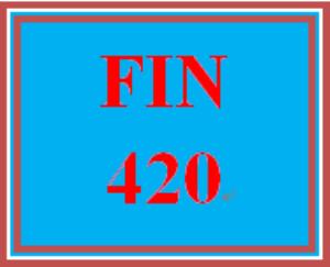 fin 420 wk 2 - quiz