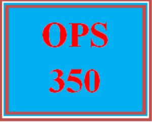 ops 350 week 3 learning team: planning and controlling in the manufacturing sector