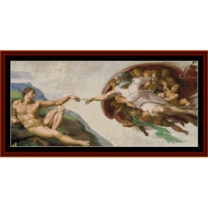 the creation - michelangelo cross stitch pattern by kathleen george at cross stitch collectibles