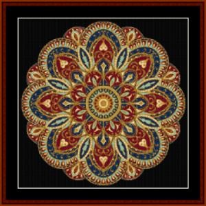 mandala 4 (small) cross stitch pattern by cross stitch collectibles
