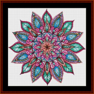mandala 8 (small) cross stitch pattern by cross stitch collectibles