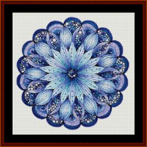 mandala 9 (small) cross stitch pattern by cross stitch collectibles