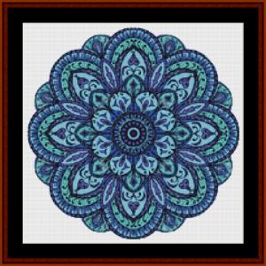 mandala 10 (small) cross stitch pattern by cross stitch collectibles