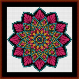 mandala 12 (small) cross stitch pattern by cross stitch collectibles