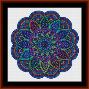 mandala 14 (small) cross stitch pattern by cross stitch collectibles