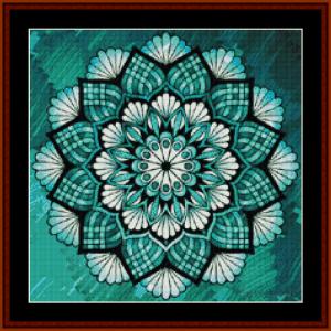 mandala 24 (small) cross stitch pattern by cross stitch collectibles