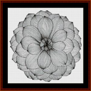 mandala 41 (small) cross stitch pattern by cross stitch collectibles