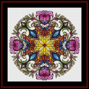 mandala 43 (small) cross stitch pattern by cross stitch collectibles