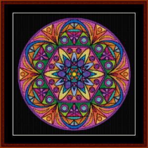 mandala 44 (small) cross stitch pattern by cross stitch collectibles