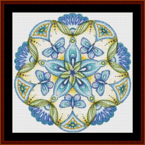 mandala 45 (small) cross stitch pattern by cross stitch collectibles