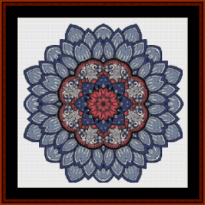 mandala 46 (small) cross stitch pattern by cross stitch collectibles