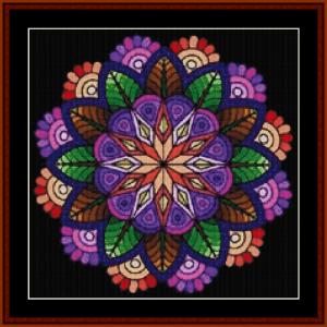 mandala 47 (small) cross stitch pattern by cross stitch collectibles