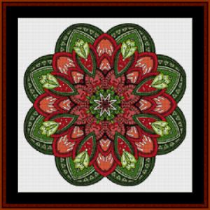 mandala 48 (small) cross stitch pattern by cross stitch collectibles
