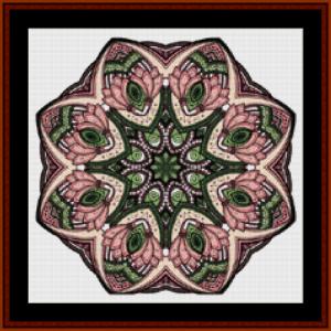 mandala 49 (small) cross stitch pattern by cross stitch collectibles