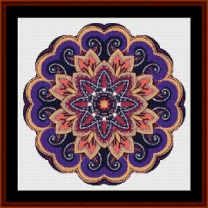 mandala 50 (small) cross stitch pattern by cross stitch collectibles