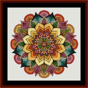 mandala 56 (small) cross stitch pattern by cross stitch collectibles