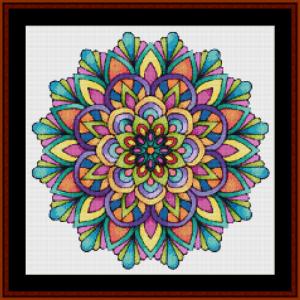 mandala 57 (small) cross stitch pattern by cross stitch collectibles