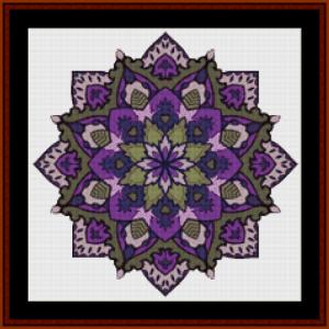 mandala 58 (small) cross stitch pattern by cross stitch collectibles