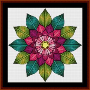 mandala 59 (small) cross stitch pattern by cross stitch collectibles