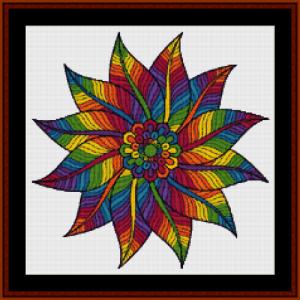 mandala 60 (small) cross stitch pattern by cross stitch collectibles