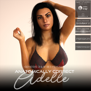 Anatomically Correct: Adelle for Genesis 3 and Genesis 8 Female (8.1) | Software | Design