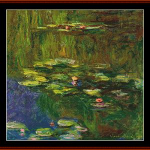 Waterlilies 7 - Monet cross stitch pattern by Cross Stitch Collectibles | Crafting | Cross-Stitch | Other
