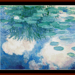Waterlilies 10 - Monet cross stitch pattern by Cross Stitch Collectibles | Crafting | Cross-Stitch | Other