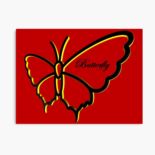 First Additional product image for - Butterfly Silhouette RBY