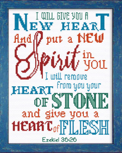 A NEW HEART Red and Turquoise | Crafting | Cross-Stitch | Other