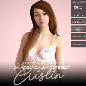 Anatomically Correct: Aislin for Genesis 3 and Genesis 8 Female (8.1) | Software | Design