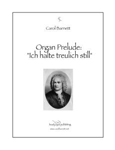 organ prelude: ich halte treulich still